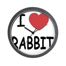 I heart RABBIT Wall Clock
