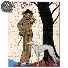 DecoLadyDogTree14x10Print Puzzle
