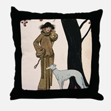 DecoLadyDogTree14x10Print Throw Pillow