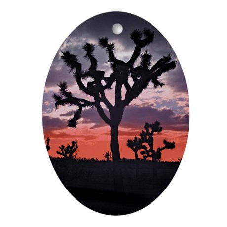 Joshua Tree Oval Ornament