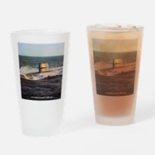 nc uss george bancroft note card Drinking Glass