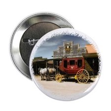 "old west stagecoach 2.25"" Button"