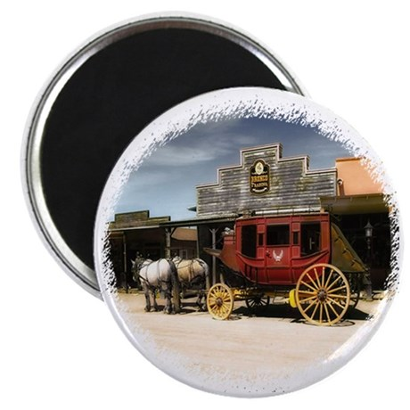 old west stagecoach Magnet