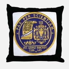 uss george bancroft patch transparent Throw Pillow