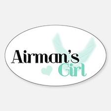 Airman's Girl Oval Decal