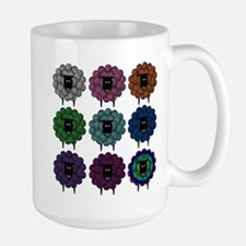 A Rainbow of Sheep Mugs