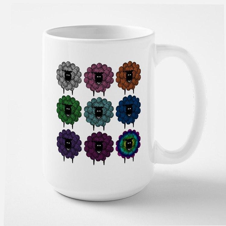 A Rainbow of Sheep Mugs
