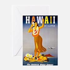 Vintage Chick Hawaii Greeting Card