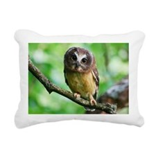 Northern Saw-whet owl Rectangular Canvas Pillow