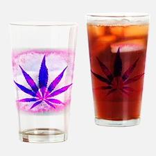 Pink Grunge Drinking Glass