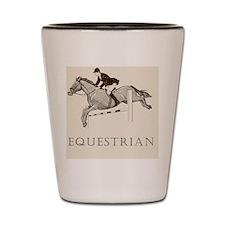 Retro Equestrian Shot Glass