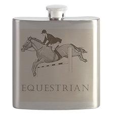 Retro Equestrian Flask
