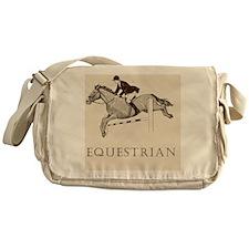 Retro Equestrian Messenger Bag