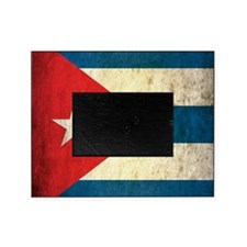 Grunge Cuba Flag Picture Frame