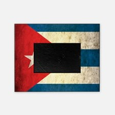 Grunge Cuba Flag Picture Frame