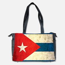 Grunge Cuba Flag Diaper Bag