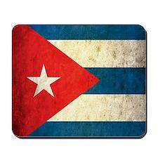 Grunge Cuba Flag Mousepad