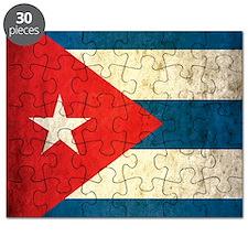 Grunge Cuba Flag Puzzle