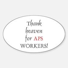 Thank Heaven APS BRT Oval Decal