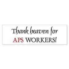 Thank Heaven APS BRT Bumper Bumper Sticker