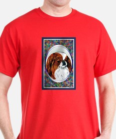 Sable Japanese Chin Designer Dark Colored T-Shirt