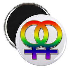 Double Women's Symbol Magnet