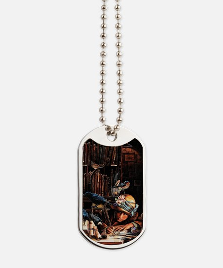 Vintage Chick Girl With Quill Dog Tags