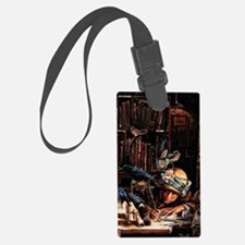 Vintage Chick Girl With Quill Luggage Tag