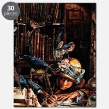 Vintage Chick Girl With Quill Puzzle