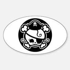 Jolly Molly-bw Oval Decal