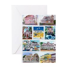 cover of cape may houses Greeting Card