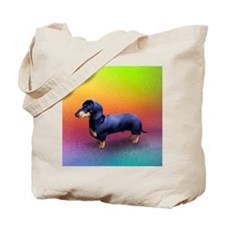 Mini Dachshund Black with Gold Markings Tote Bag