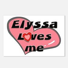 elyssa loves me  Postcards (Package of 8)