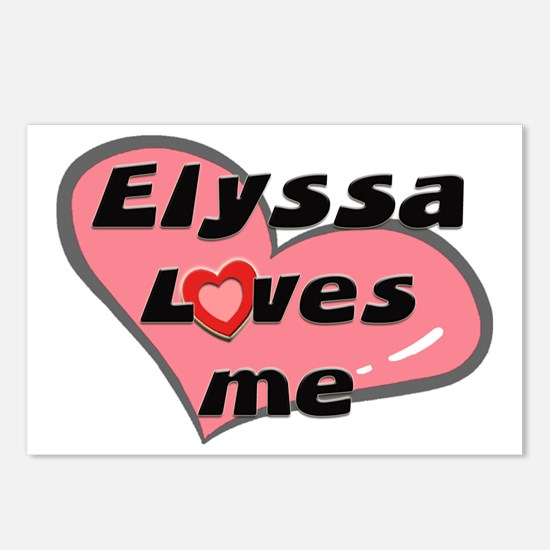 elyssa loves me  Postcards (Package of 8)