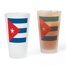 Cuba Flag Drinking Glass