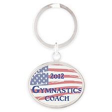 Gymnastics Coach 2012 Oval Keychain