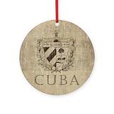 Cuba Round Ornaments
