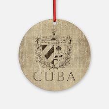 Vintage Cuba Round Ornament