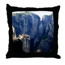 The magnificent & isolated monasterie Throw Pillow