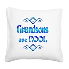 Grandsons are Cool Square Canvas Pillow