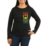 Benin Women's Long Sleeve Dark T-Shirt