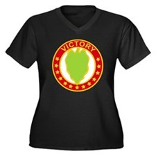 DUI - 24th I Women's Plus Size Dark V-Neck T-Shirt