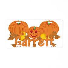 Halloween Pumpkin Garrett Aluminum License Plate