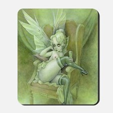 Vintage Chick Sexy green Fairy Mousepad