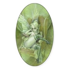 Vintage Chick Sexy green Fairy Decal