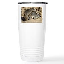 mating bush hyrax or yellow-spo Travel Mug