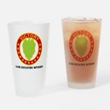 DUI - 24th Infantry Division  with  Drinking Glass