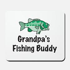Grandpa's Fishing Buddy Mousepad