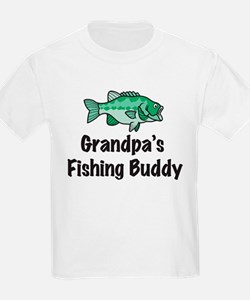 Grandpa's Fishing Buddy Kids T-Shirt