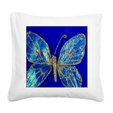 Glitter Butterfly Square Canvas Pillow
